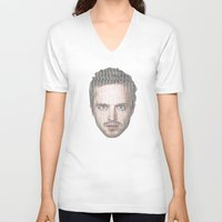 jesse pinkman V-neck T-shirts featuring Jesse Pinkman All-Type by Diego Farias