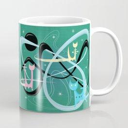 Atomic Rocket Cats In Space Coffee Mug