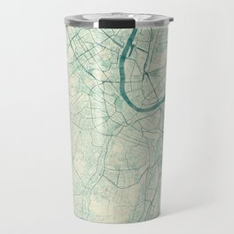 Basel Map Blue Vintage Travel Mug
