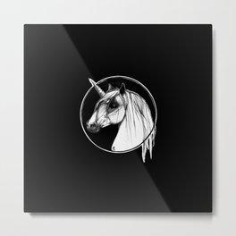 Black Unicorn - Through the Black Metal Print