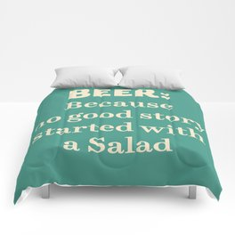 Beer illustration quote, vintage Pub sign, Restaurant, fine art, mancave, food, drink, private club Comforters