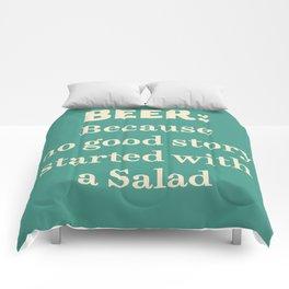 Beer illustration quote, vintage Pub sign, Restaurant, fine art, mancave, food, drink, private club Comforters