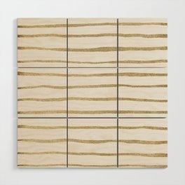 Gold Stripes Wood Wall Art