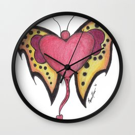 """Tattoo and T's Series """"Flutter"""" Wall Clock"""