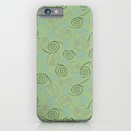 Purple Plum Abstract Swirl Pattern iPhone Case