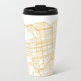 SAN FRANCISCO CALIFORNIA CITY STREET MAP ART Travel Mug