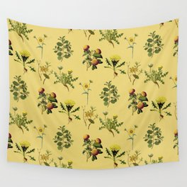 Wild Forest & Field Yellow Flower Herb Pattern Wall Tapestry