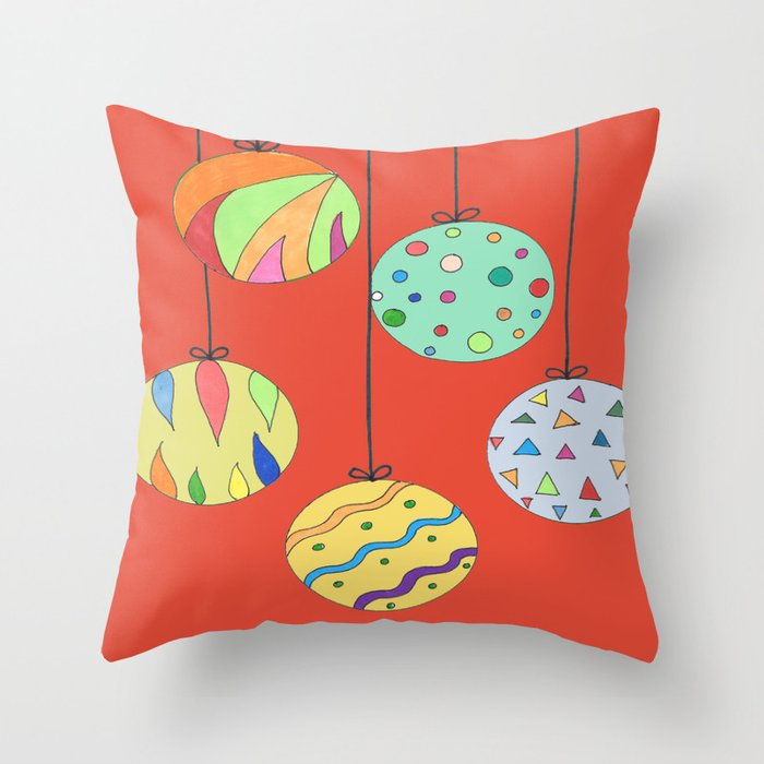 Trim the Tree Red Throw Pillow