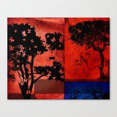 Trees in Red Skies Canvas Print