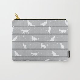 Cats Pattern (Grey) Carry-All Pouch