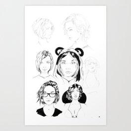 portrait study Art Print