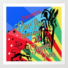 Rasta Reggae One Love Party Art Print