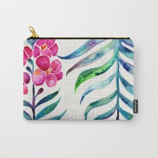 Blooming Orchid – Fuchsia & Indigo Palette Carry-All Pouch