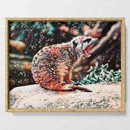 Meerkat Rage | Painting Serving Tray