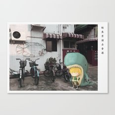 Whale Boy in Hong Kong Canvas Print