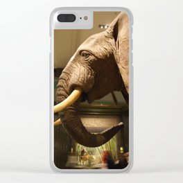 Natural History Elephant Clear iPhone Case