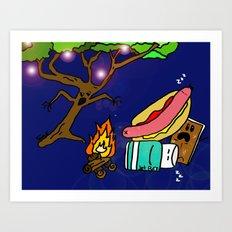 Campfire Tales 2 Art Print