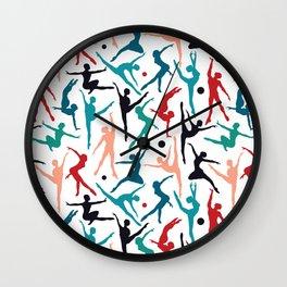 TANSI Colourful dancers pattern Wall Clock