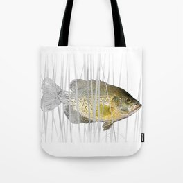 Black Crappie Fish Tote Bag