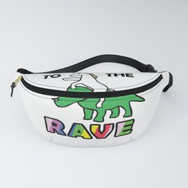 To The Rave! (Unicorn Riding Triceratops) Fanny Pack