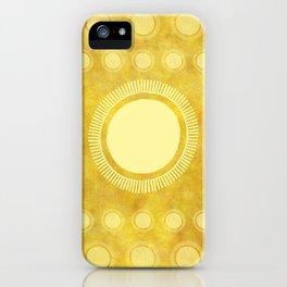 """Gold & Yellow Ethnic Sun Mandala"" iPhone Case"