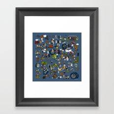 Teeny Tiny Galaxy Framed Art Print