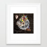 novelty Framed Art Prints featuring Universe Striving for Novelty by Eugenia Loli