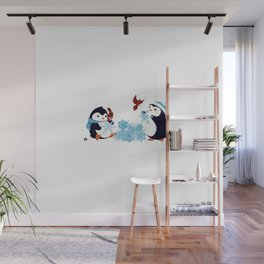 Winter's Little Helpers Wall Mural