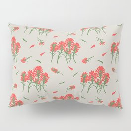 Floral-Indian Paintbrush-Gray Pillow Sham