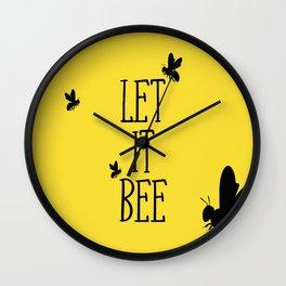 Let it Bee Wall Clock