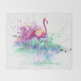 Messy Flamingo Throw Blanket