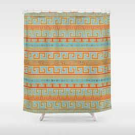 Meander Pattern - Greek Key Ornament #4 Shower Curtain
