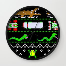 Ugly Christmas Frogger Sweater Wall Clock