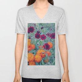 autumn flowers Unisex V-Neck