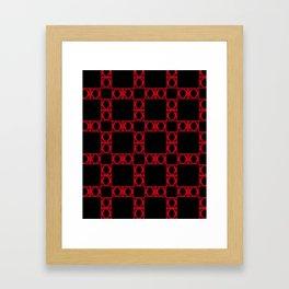 angle red & black 2 Framed Art Print