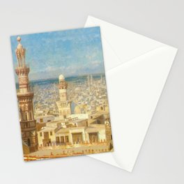 Islamic Masterpiece 'View of Cairo, Egypt' by Jéan Leon Gerome Stationery Cards