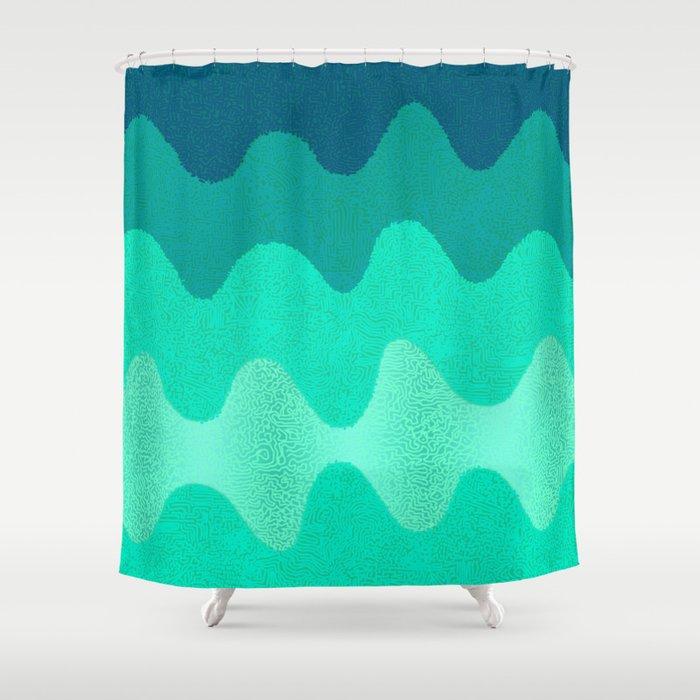 Under the Influence (Marimekko Curves) Seaside Shower Curtain by ...
