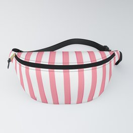 Pink Tilted Duochrome Stripes Fanny Pack