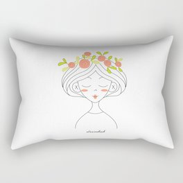Crown of flowers Rectangular Pillow