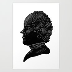 Silhouette of a Gentleman Art Print
