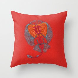Stitches: Electric ray Throw Pillow