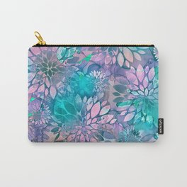 Painted Background Floral Pattern Carry-All Pouch