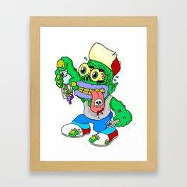 Freaky Zeeky Framed Art Print