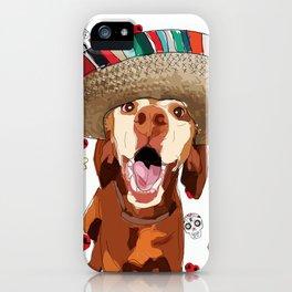 Cinco de Vizsla Dog iPhone Case
