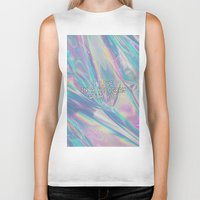 hologram Biker Tanks featuring I LIVE IN A HOLOGRAM WITH YOU... by Beauty Killer Art
