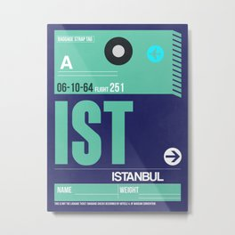 IST Istanbul Luggage Tag 1 Metal Print