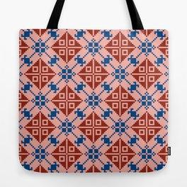 Folk Pattern Tote Bag