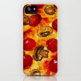 Pepperoni and Mushroom Pizza iPhone Case