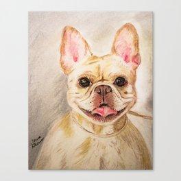 "Pastel Drawing ""Happy Camper"" Canvas Print"