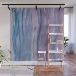 Touching Purple Blue Watercolor Abstract #2 #painting #decor #art #society6 Wall Mural